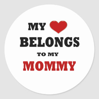 Mommy Love Classic Round Sticker
