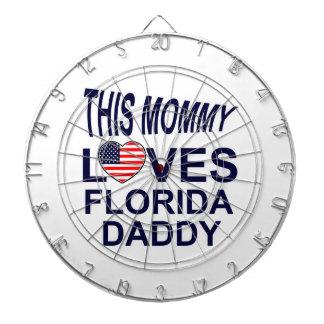 Mommy Love Florida daddy Dartboard