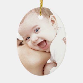 mommy loves baby ceramic ornament