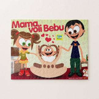Mommy Loves Baby (Mama Voli Bebu) Puzzle
