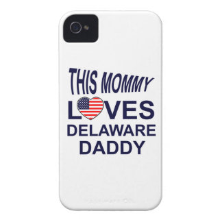 mommy loves Delaware daddy Case-Mate iPhone 4 Case