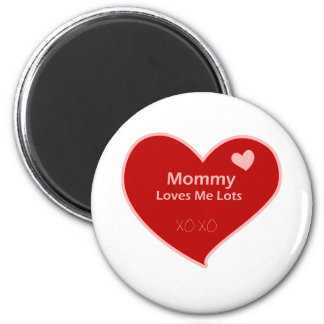 Mommy Loves Me 2 Inch Round Magnet