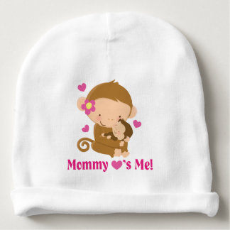 Mommy Loves Me Monkey Baby Infant hat