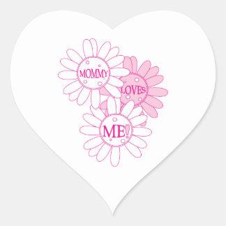Mommy Loves Me! Heart Sticker