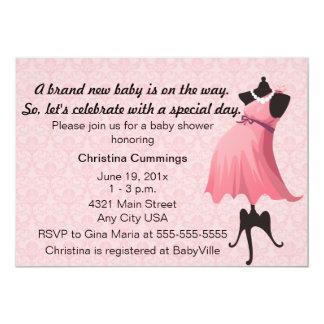 Mommy Mannequin Baby Shower Invitation (Pink)