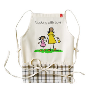 Mommy & Me Custom Mother and Daughter Family Apron Zazzle HEART Apron