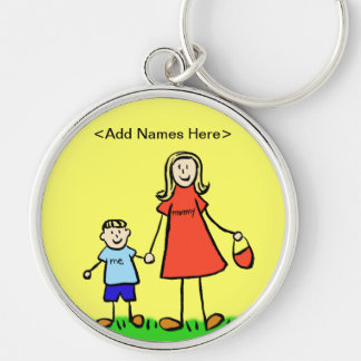 Mommy & Me Keychain (Blond Customize Names)
