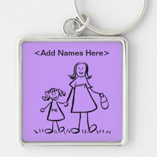 Mommy & Me Keychain (Customize Names Option)