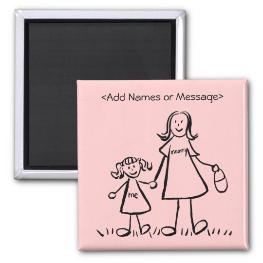 Mommy & Me - Mother and Daughter Custom Magnets