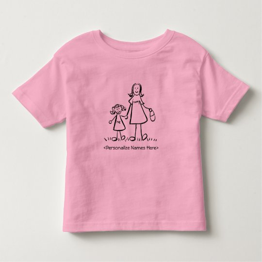 Mommy & Me - Mother and Daughter Custom T-Shirt