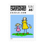 Mommy & Me - Mother and Daughter Postage Stamps