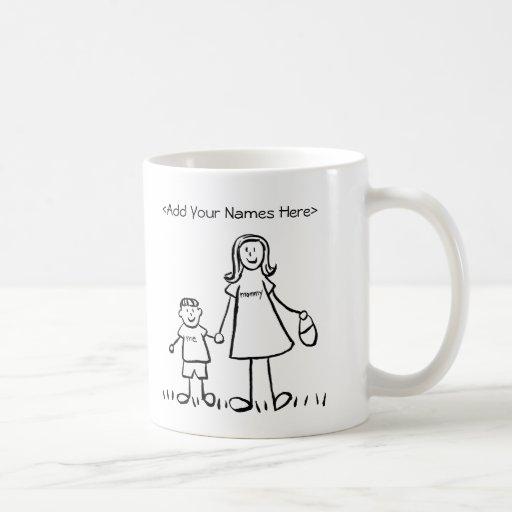 Mommy & Me - Mother & Little Boy Custom Mugs