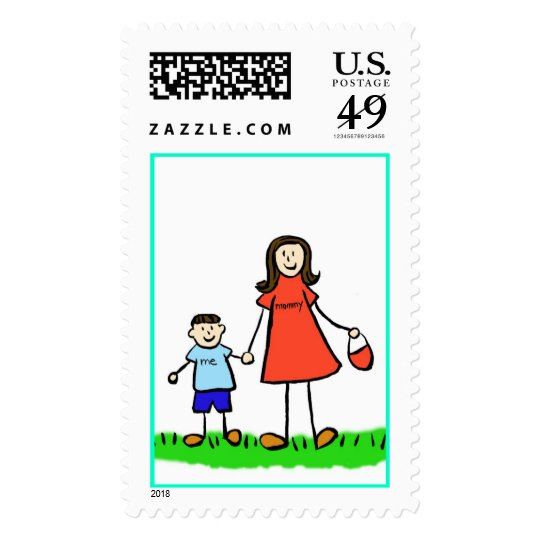 Mommy & Me Stamp (Brunette with No Title)