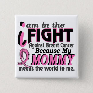 Mommy Means The World To Me Breast Cancer Button