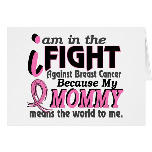 Mommy Means The World To Me Breast Cancer Cards