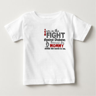 Mommy Means World To Me Diabetes Baby T-Shirt
