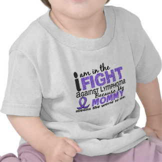 Mommy Means World To Me H Lymphoma T-shirt