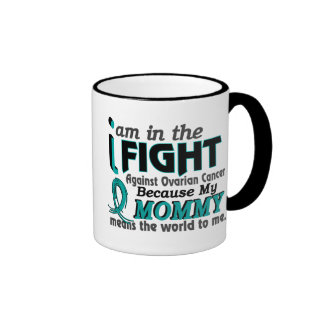 Mommy Means World To Me Ovarian Cancer Ringer Coffee Mug