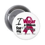 Mommy - Multiple Myeloma Ribbon Pinback Button