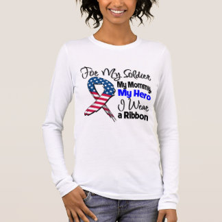 Mommy - My Soldier, My Hero Patriotic Ribbon Long Sleeve T-Shirt