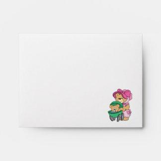 Mommy N Baby Bear in Stroller Envelope