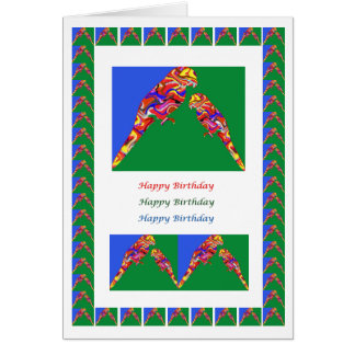 Mommy n Baby Parrot-  HappyBirthday Card