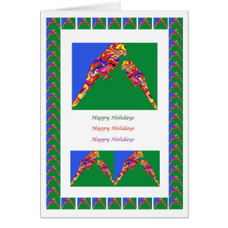 Mommy n Baby Parrot-  HappyHolidays Card