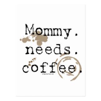 Mommy. Needs. Coffee. Postcard