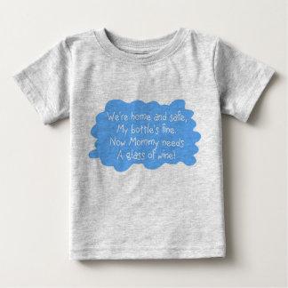 Mommy Needs Wine Blue Infant T-shirt