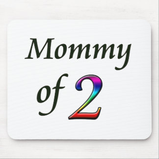 MOMMY OF 2 MOUSE PAD
