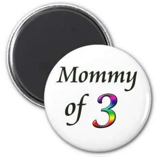 MOMMY OF 3 REFRIGERATOR MAGNETS
