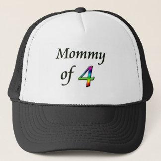 MOMMY OF 4 TRUCKER HAT