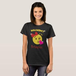 Mommy Of The Birthday Girl Emoji Party T Shirt