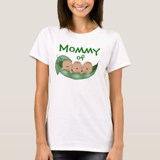Mommy of Triplet Boys with Dark Skin T-Shirt