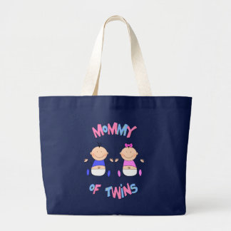 Mommy of Twin Babies Large Tote Bag