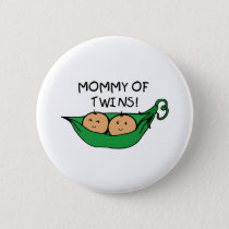 Mommy of Twin Pod Button