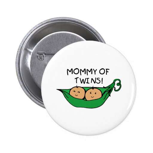 Mommy of Twin Pod Buttons