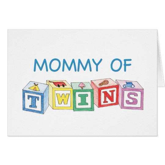 Mommy of Twins Blocks Card