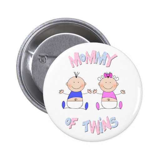 Mommy of Twins Button