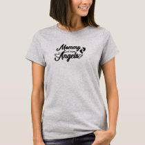 Mommy of Two Angels Twins T-Shirt