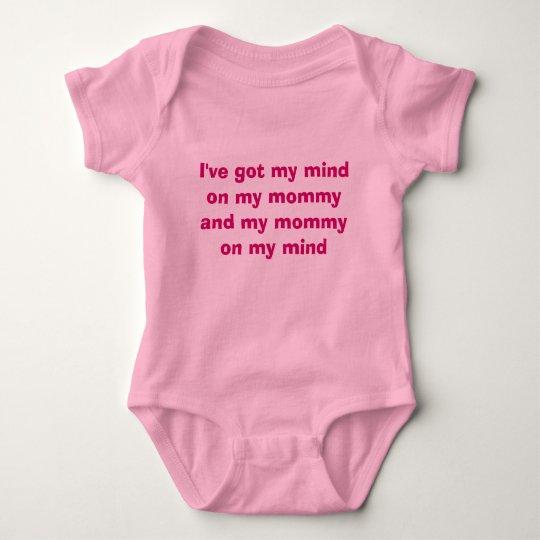Mommy on my mind baby bodysuit