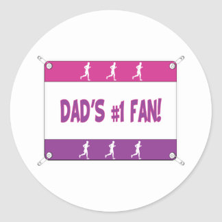 Mommy or Daddy's # 1 Fan Classic Round Sticker