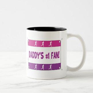 Mommy or Daddy's # 1 Fan Two-Tone Coffee Mug