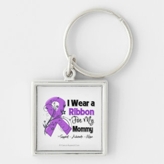 Mommy - Pancreatic Cancer Ribbon Key Chain