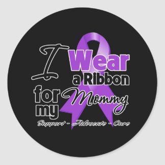 Mommy - Pancreatic Cancer Ribbon Classic Round Sticker