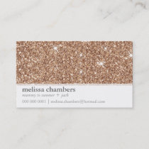 MOMMY PLAYDATE CONTACT modern rose gold glitter Calling Card