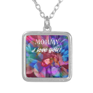 Mommy.PNG Silver Plated Necklace