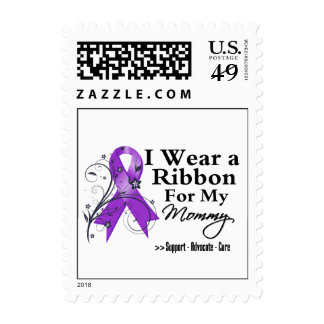 Mommy Purple Ribbon - Pancreatic Cancer Postage Stamps