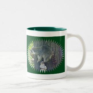 Mommy Raccoon on Suet Mug