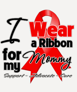 Mommy - Red Ribbon Awareness Shirts